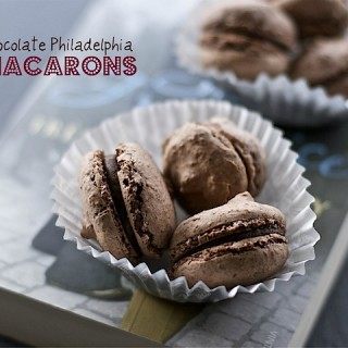 Recipe: chocolate Philadelphia macarons