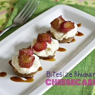 Recipe: mini caramelised rhubarb no bake cheesecakes
