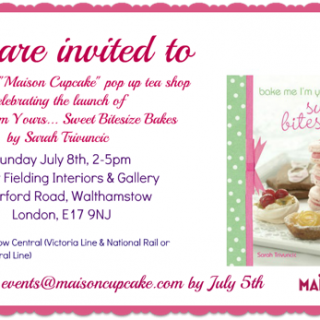 The first ever Maison Cupcake pop up tea shop
