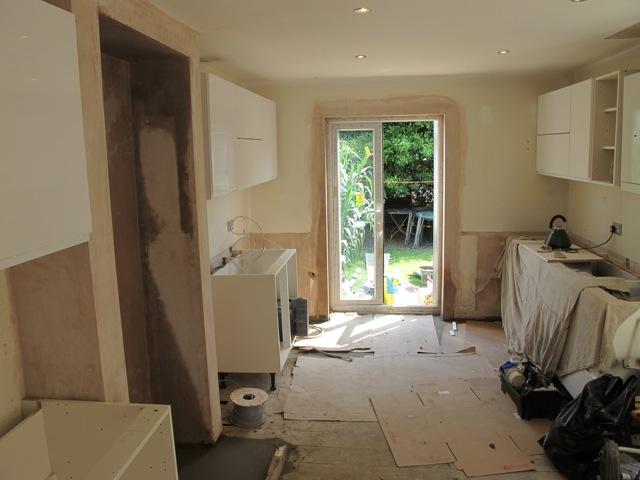 Kitchen during building work