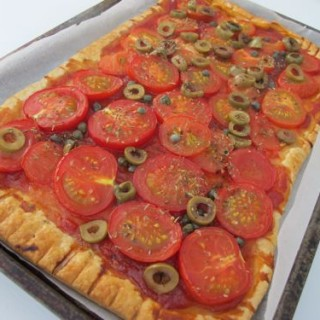 Recipe: tomato, olive and caper tart