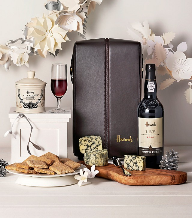 Harrods Port and Stilton hamper