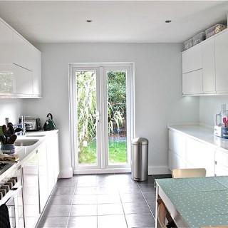 Nice shiny white new kitchen