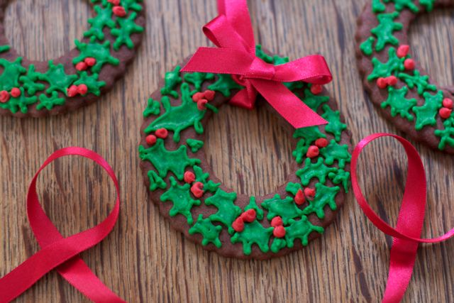 Christmas-wreath-Christmas-tree-cookies