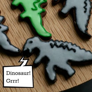 Dinosaur cookies: sugarcraft project