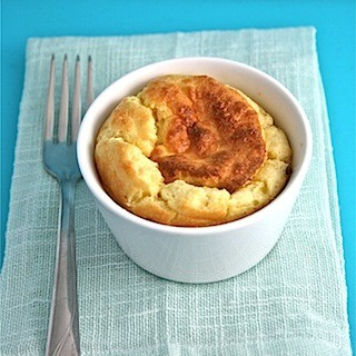 Goats cheese soufflés with thyme