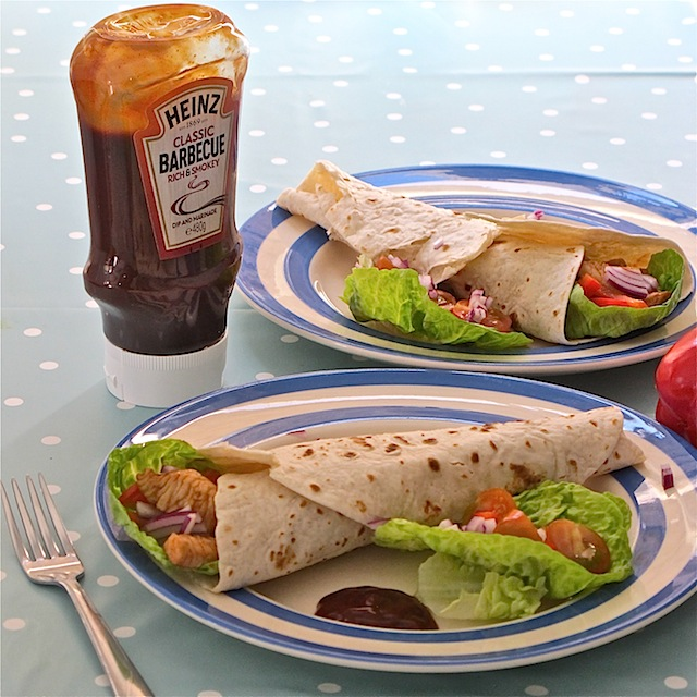 Turkey wraps Heinz barbecue sauce - 10