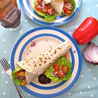 Turkey Wraps with Classic Barbecue Sauce (Heinz)