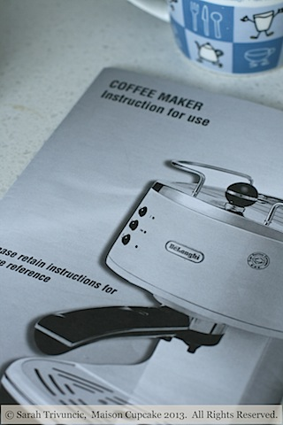 delonghi coffee machine instructions