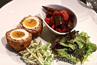 Brigade Restaurant Review #London chef scotch eggs