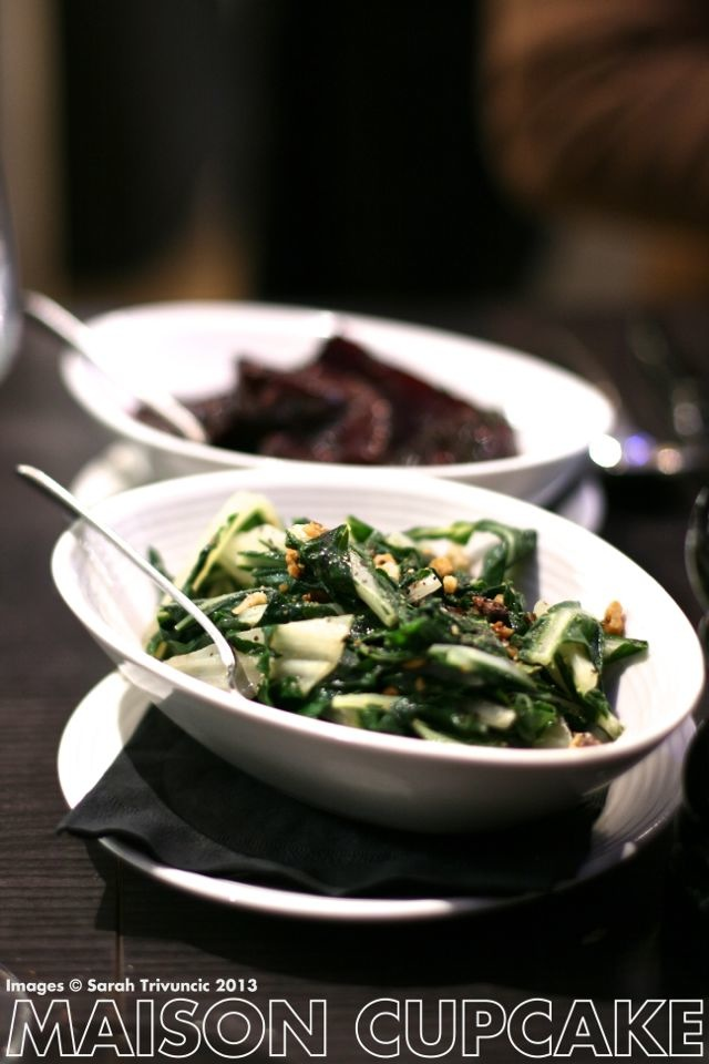 Brigade London restaurant review - vegetable side dishes