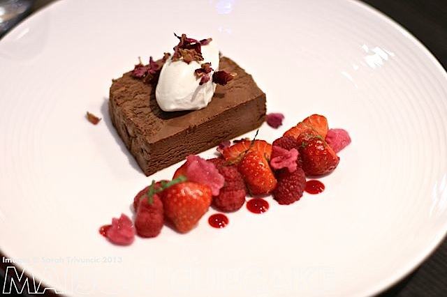 Brigade Restaurant Review #London chocolate dessert with strawberries