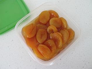 Apricot and amaretto ice cream - 01