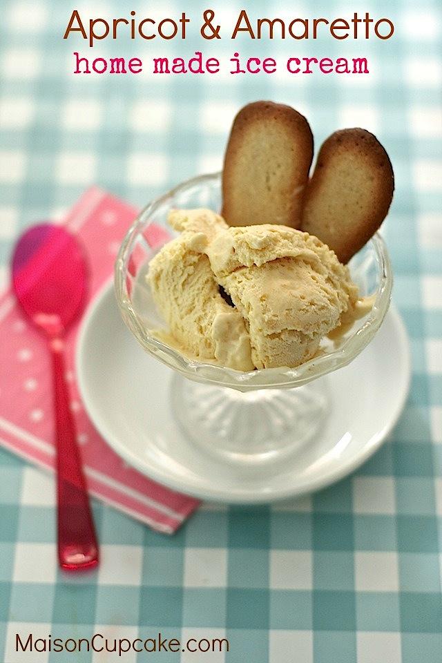 Apricot and Amaretto Ice Cream by Maison Cupcake