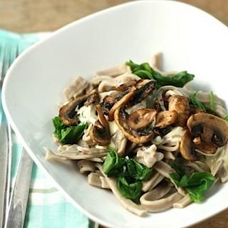 Mushroom tagliatelle homemade pasta