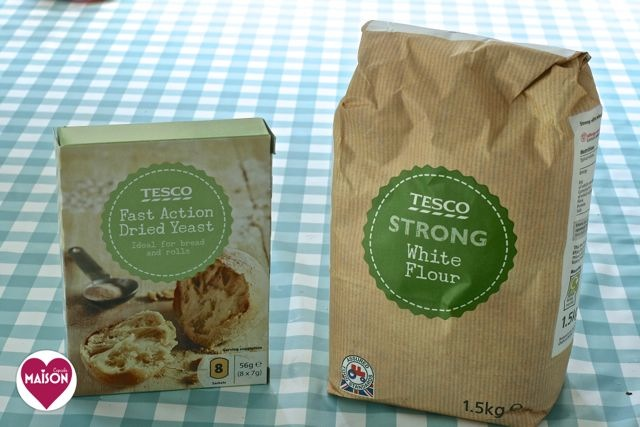 Ingredients to make bread from Tesco supermarket #shop #cbias #ad