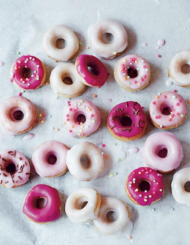Mini Doughnut Recipe For Pink Glazed Ring Donuts Maison