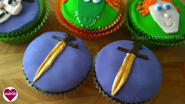 Justin and the Knights of Valour cupcakes