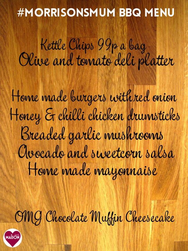 #MorrisonsMum barbecue menu