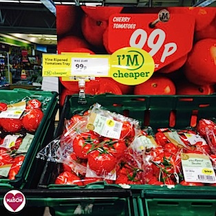 Morrisons tomatoes display #Retail #supermarkets #vegetables