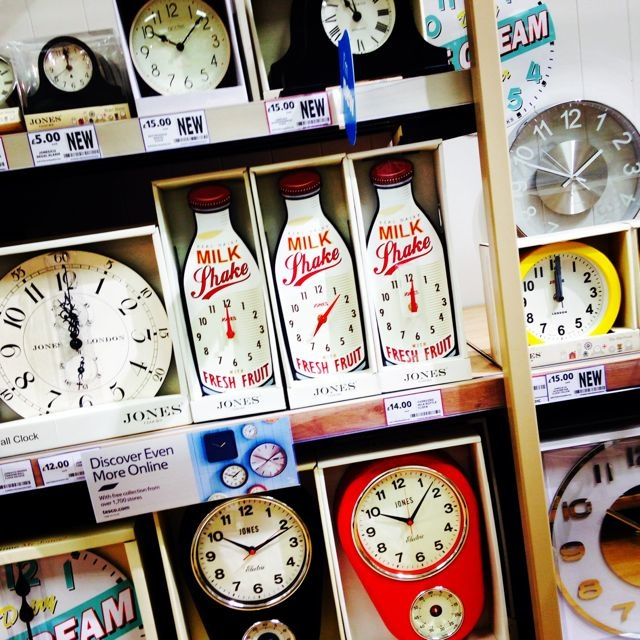 Retro clock display from Tesco homeware selection 2014