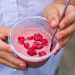 Vegan Raspberry Ice Cream (Vitamix)