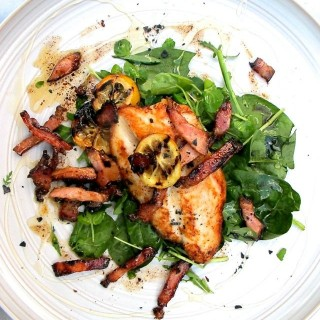 Basa fillets with bacon and spinach (BabyCentre)