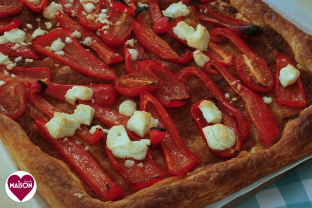 Red pepper feta tart - 7-imp