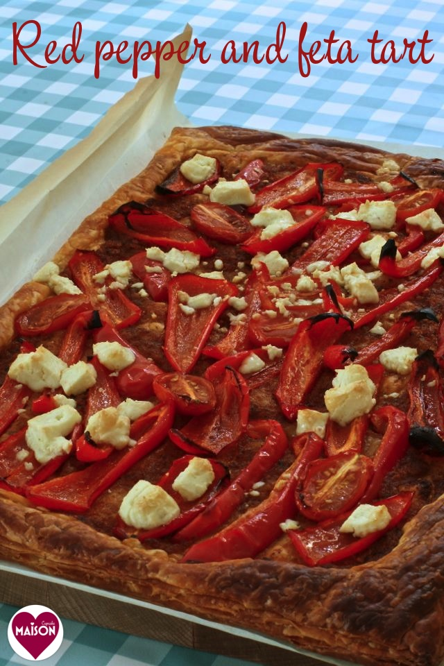Red pepper feta tart - 8-imp