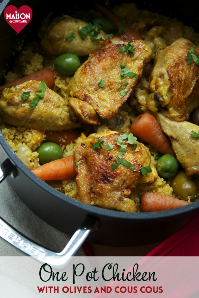 Easy one pot chicken casserole with cous cous and olives - 19
