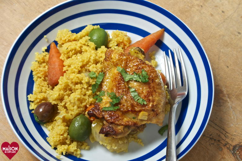 Easy one pot chicken casserole with cous cous and olives - 23