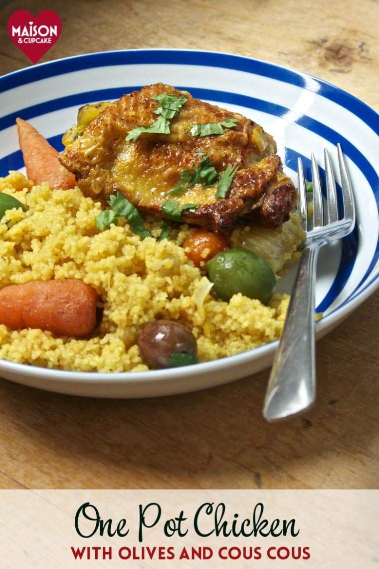 Easy one pot chicken casserole with cous cous and olives - 25