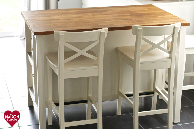Luxury IKEA Stenstorp Kitchen Island with Ingolf bar stools