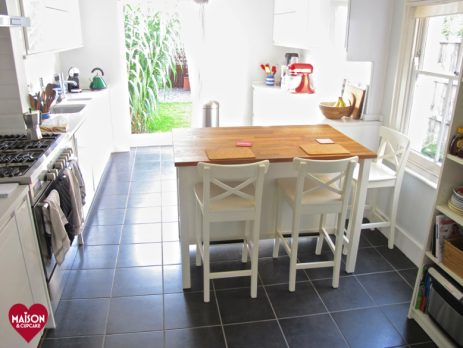 Beautiful After With Stenstorp IKEA Kitchen Island And BILLY Bookcase: