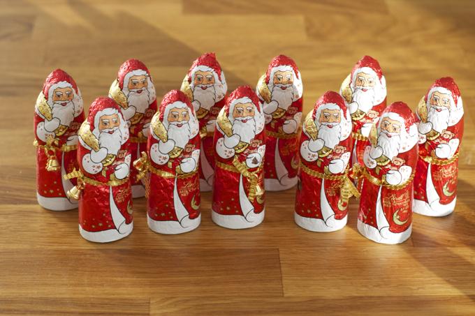 Lindt Christmas santas