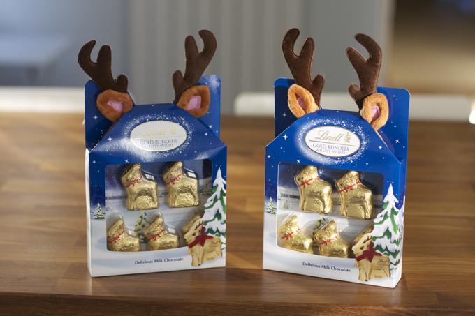 Lindt Christmas reindeer ears