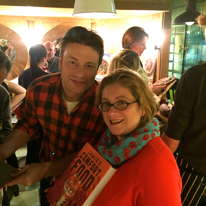 Jamie Oliver with Sarah Trivuncic