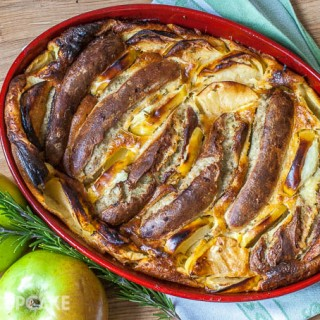 Toad in the Hole with Bramley & Bratwurst (Bramley Apples)