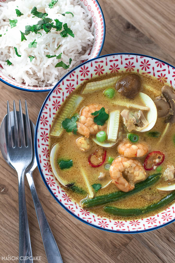 Thai prawn curry with clams - 2