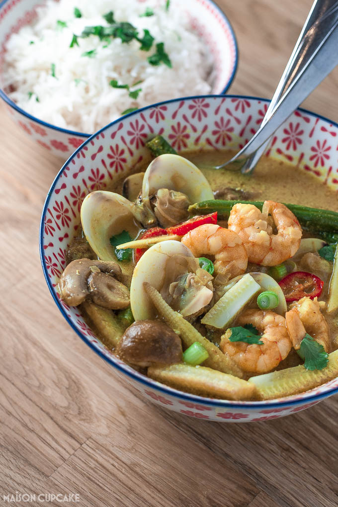 Thai prawn curry with clams - 4