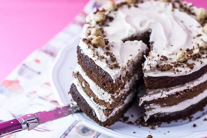 Chocolate Chestnut Layer Cake - 3