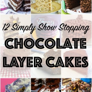 12 chocolate layer cakes: We Should Cocoa piles on the layers