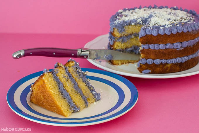 Lavender layer cake with white chocolate - 1