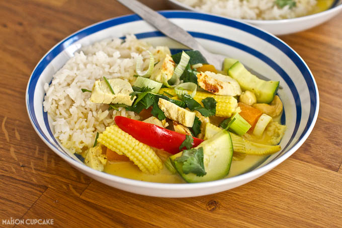 Ten Minute Thai Turkey Curry recipe by @maisoncupcake at maisoncupcake.com in collaboration with Bernard Matthews #ad