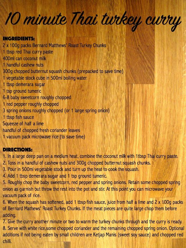 Thai turkey curry recipe by @maisoncupcake at maisoncupcake.com