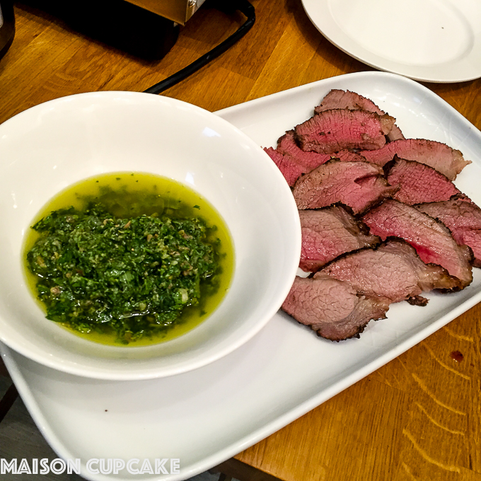 Beef with salsa verde via @maisoncupcake at maisoncupcake.com
