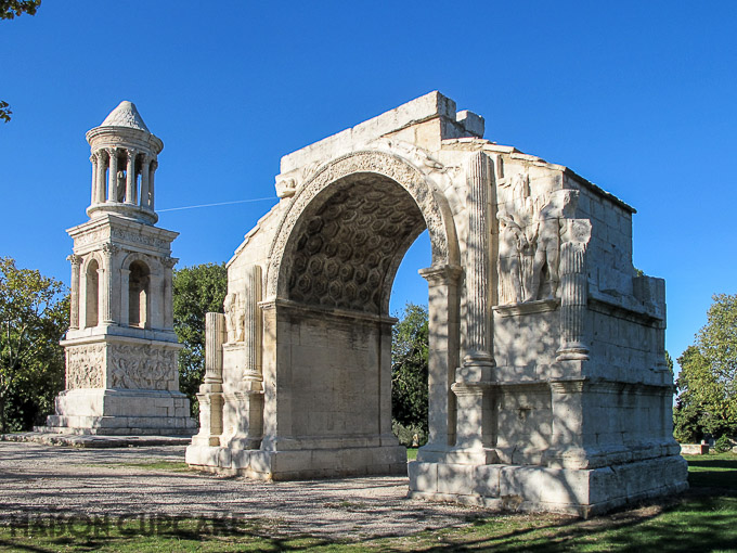 Les Antiques roman ruins at Glanum near St Remy de Provence, France