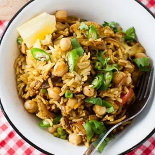 Vegetable Biryani with Cauliflower and Chickpeas (Vegan)
