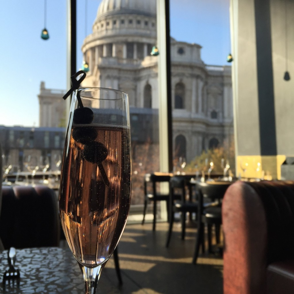 View of St Pauls from Barbecoa Restaurant City of London
