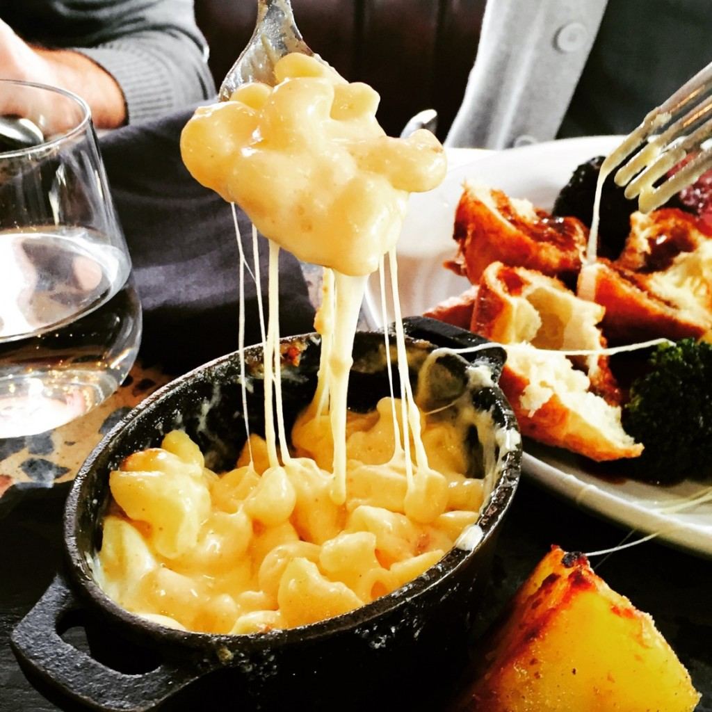 Jamie Oliver macaroni cheese at Barbecoa Restaurant